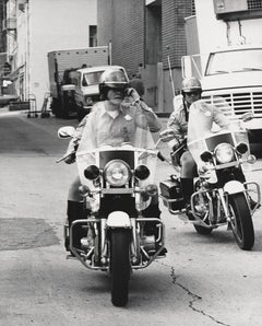 "Erik Estrada and Larry Wilcox of ""CHiPs"" on Motorcycles Fine Art Print"