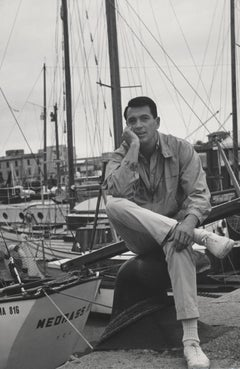 Rock Hudson on Dock Fine Art Print