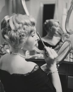 Zsa Zsa Gabor Applying Makeup Fine Art Print