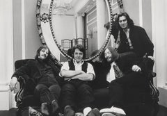 The Beatles Candid on Couch Fine Art Print