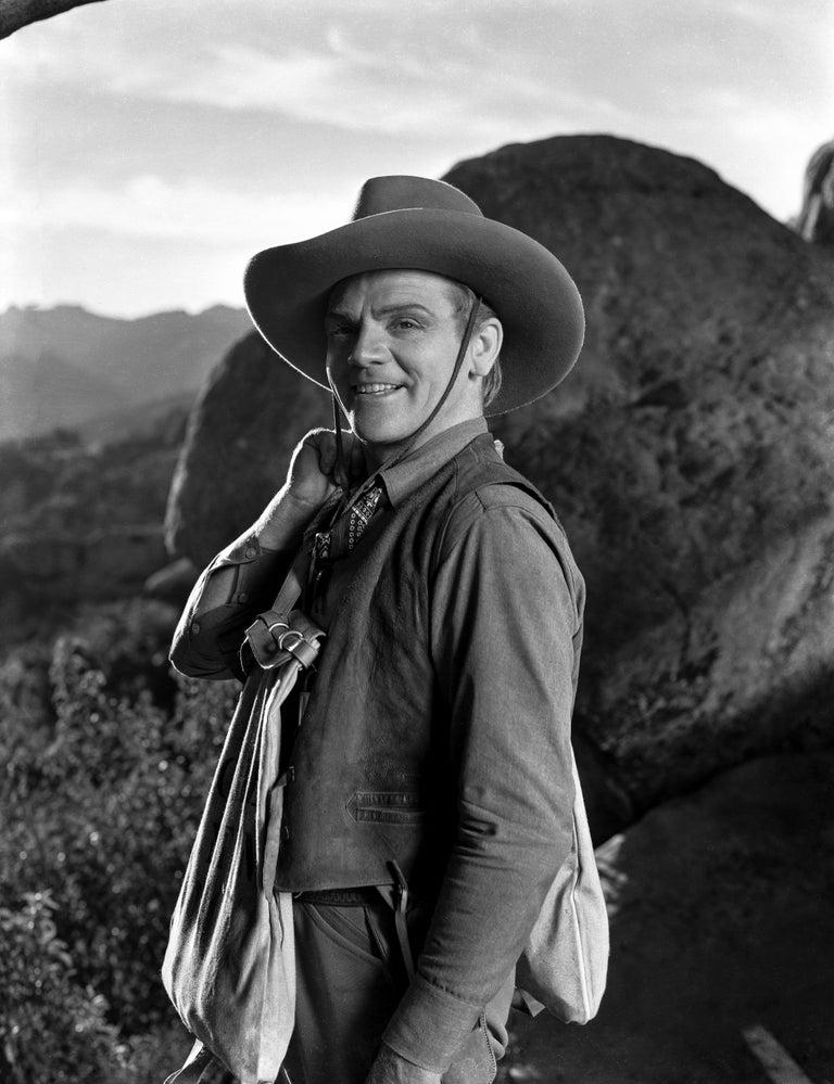 Mark Elliot Black and White Photograph - James Cagney: The Oklahoma Kid Fine Art Print