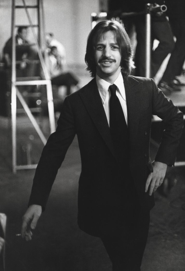 Bruce McBroom Black and White Photograph - Ringo Starr Backstage Fine Art Print