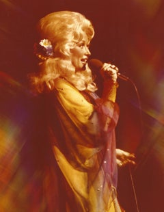 Dolly Parton Awesome Psychedelic Portrait Vintage Original Photograph