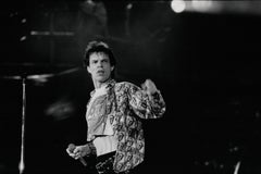 Mick Jagger in Action on Stage II Vintage Original Photograph