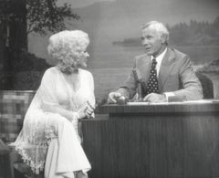 Dolly Parton with Johnny Carson Vintage Original Photograph