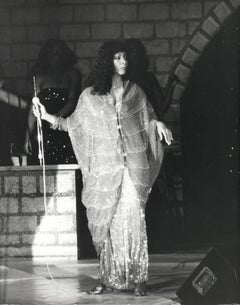Donna Summer Candid on Stage Vintage Original Photograph