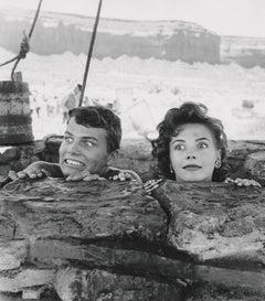 Natalie Wood and Patrick Wayne Goofing Around on Set Globe Photos Fine Art Print