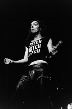 Alice Cooper Performing with Microphone in Hand Vintage Original Photograph