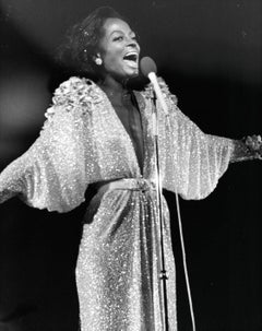 Diana Ross Performing with Arms Outstretched Vintage Original Photograph