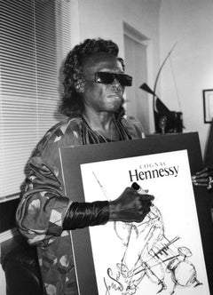 Miles Davis with Poster Vintage Original Photograph