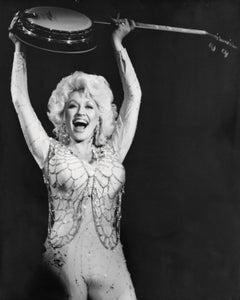 Dolly Parton Holding Up Banjo Vintage Original Photograph