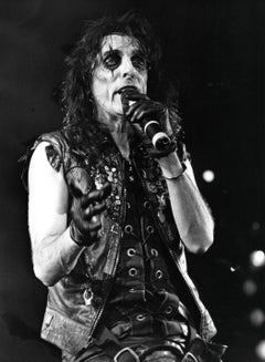 Alice Cooper Performing in Leather Vintage Original Photograph