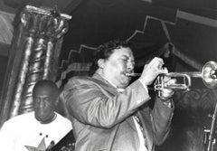 Arturo Sandoval Playing Trumpet on Stage Vintage Original Photograph