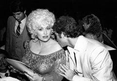 Larry Gatlin Kissing Dolly Parton Vintage Original Photograph