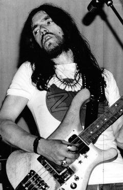 Lemmy Kilmister of Motörhead Playing Guitar Vintage Original Photograph