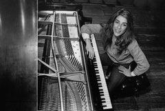 Liz Story Posed at Piano Vintage Original Photograph