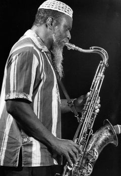 Pharoah Sanders Playing Saxophone Vintage Original Photograph