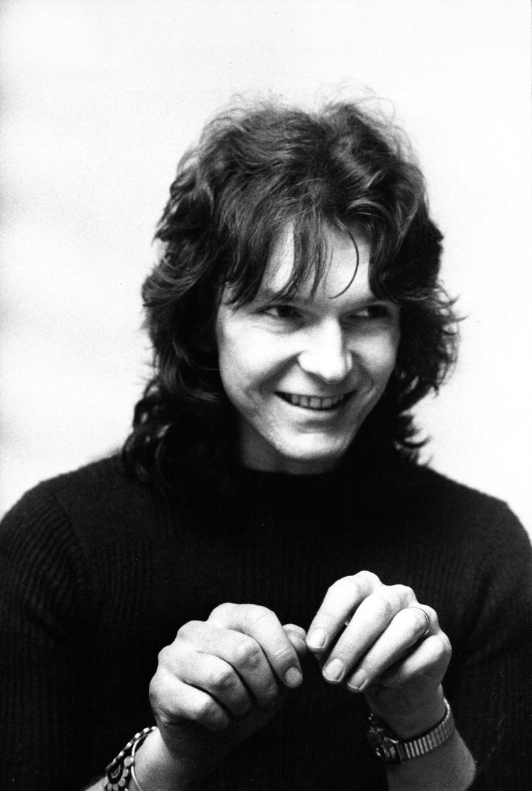 Barry Stacey Portrait Photograph - Chris Squire of Yes Candid and Smiling Vintage Original Photograph
