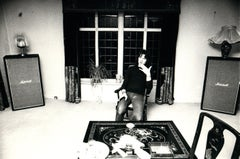 Chris Squire of Yes Sitting Candid Indoors Vintage Original Photograph