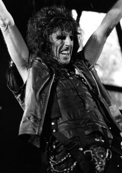 Alice Cooper Performing with Big Smile Vintage Original Photograph