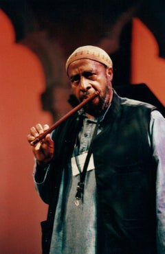 Yusef Lateef Playing Flute Vintage Original Photograph