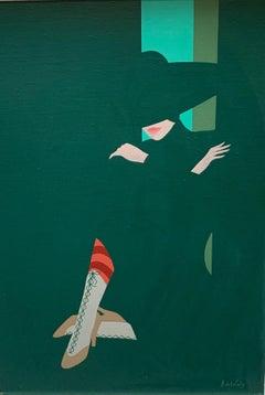 Amleto dalla Costa, Laced Boots, unique painting
