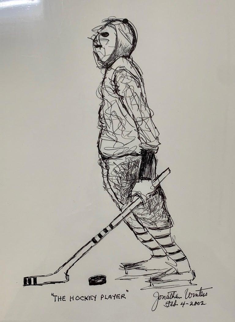 Hockey Player Drawing