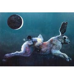 "Acrylic on Canvas Titled ""Harebrained"""