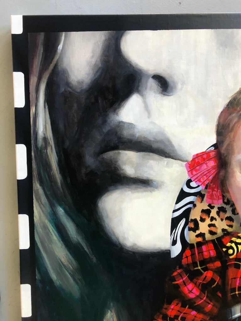 """About the Artist: """"I am a figurative painter who enjoys telling a story. My paintings recently have incorporated bits and pieces of military costumes on my main character Prudence. She proceeds with caution in every situation, but in a"""