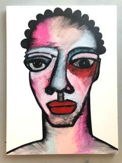 Acrylic on Canvas Titled: Michaela