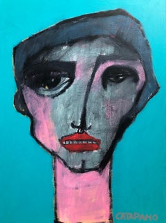 """Acrylic on Canvas Titled: """"Young Boy"""""""