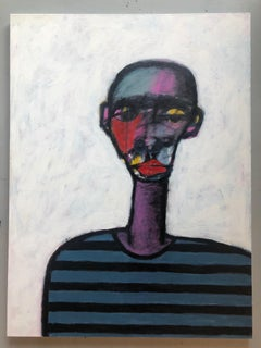 "Acrylic on Canvas Titled: ""Striped Shirt"""