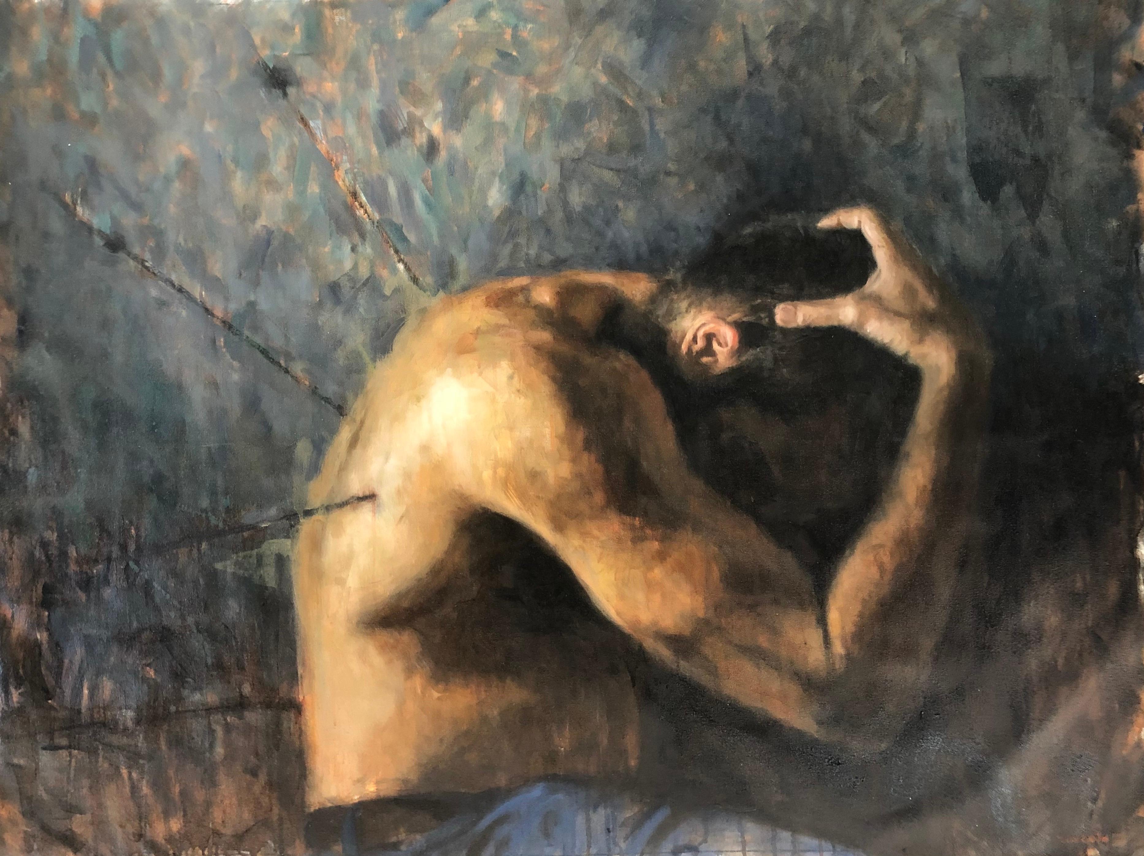 "Oil on Canvas Titled ""Hopeless Romantic IV"""