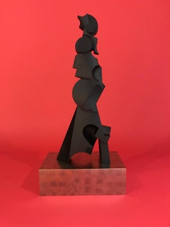 "Hand Carved Sculpture Titled: ""Abstract Figure #1002"""