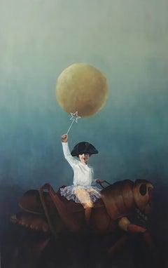 "Acrylic on Canvas Titled ""The Joy Ride"""