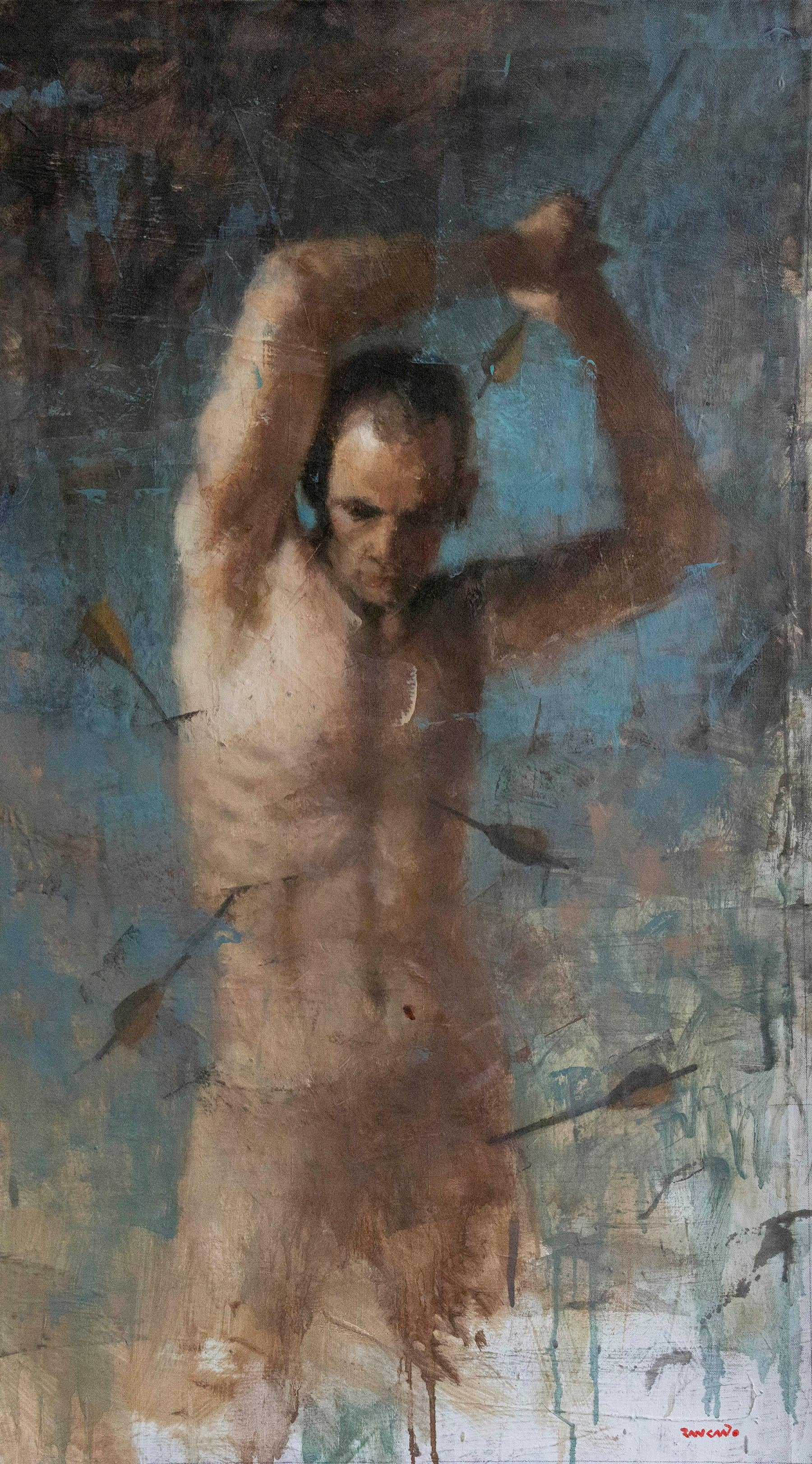 "Oil on Canvas Titled ""Hopeless Romantic II"""