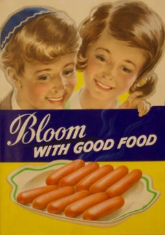 Poster Blooms - Original Artwork - Bloom With Good Food Jewish - Watercolour