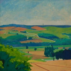 Landscape - Mid 20th Century Piece Oil on Board - Countryside by Michael Fell