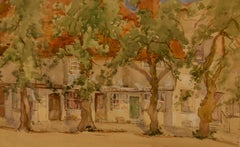 South of France - Early 20th Century Impressionist Watercolour by Bennett