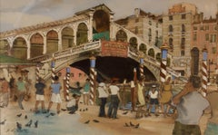 Venice - Early 20th Century Impressionist Watercolor by Hubert Andrew Freeth