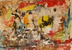 Messy Colourful Abstract - 20th Century Watercolor by Z. Krajewska