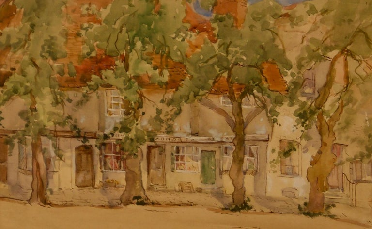 Sterndale Bennett Figurative Art - South of France - Early 20th Century Impressionist Watercolour by Bennett
