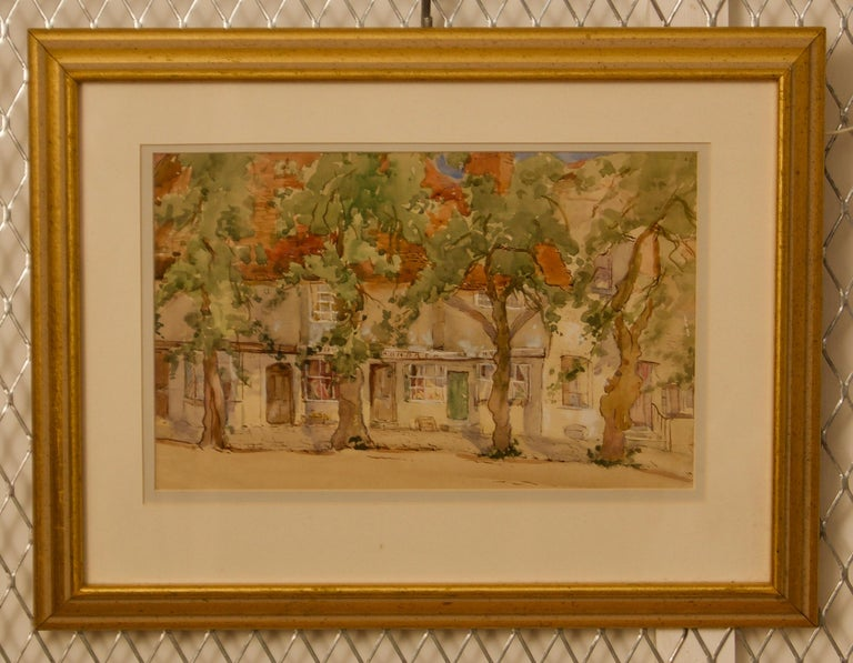 South of France - Early 20th Century Impressionist Watercolour by Bennett - Art by Sterndale Bennett