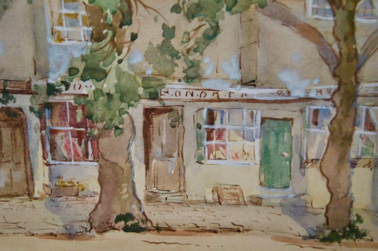 South of France - Early 20th Century Impressionist Watercolour by Bennett - Post-Impressionist Art by Sterndale Bennett