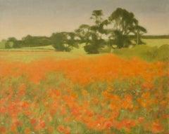 Post Impressionist Landscape - Circa Mid 20th Century Oil by M Noyes