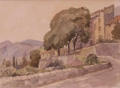 Majorica - Mid 20th Century Landscape Watercolour on Paper by Muriel Archer
