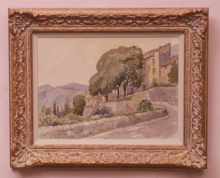 Majorica - Mid 20th Century Landscape Watercolour on Paper by Muriel Archer For Sale 1