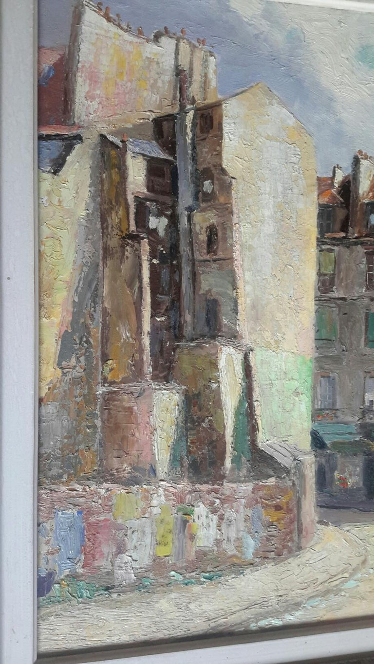 Paris Mouffetard  - Post-Impressionist Painting by Unknown