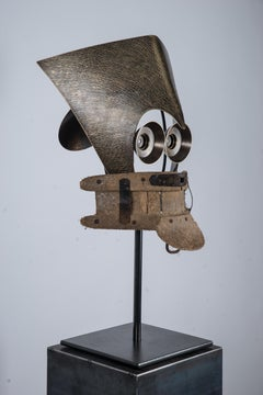 """""""Autoportrait"""" Brass Sculpture"""