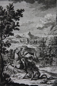 Copperplate Engraving of Biblical Scene in Genesis by: Georg Daniel Heumann